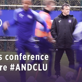 Embedded thumbnail for Frank Vercauteren's press conference before #ANDCLU